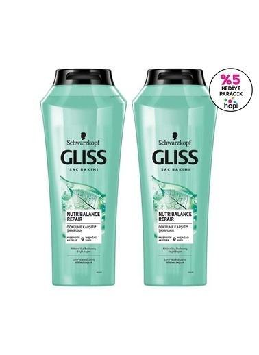 Gliss Nutribalance Repair Saç Dökülmesine Karşı şampuan 500 Ml 2'Li Renksiz